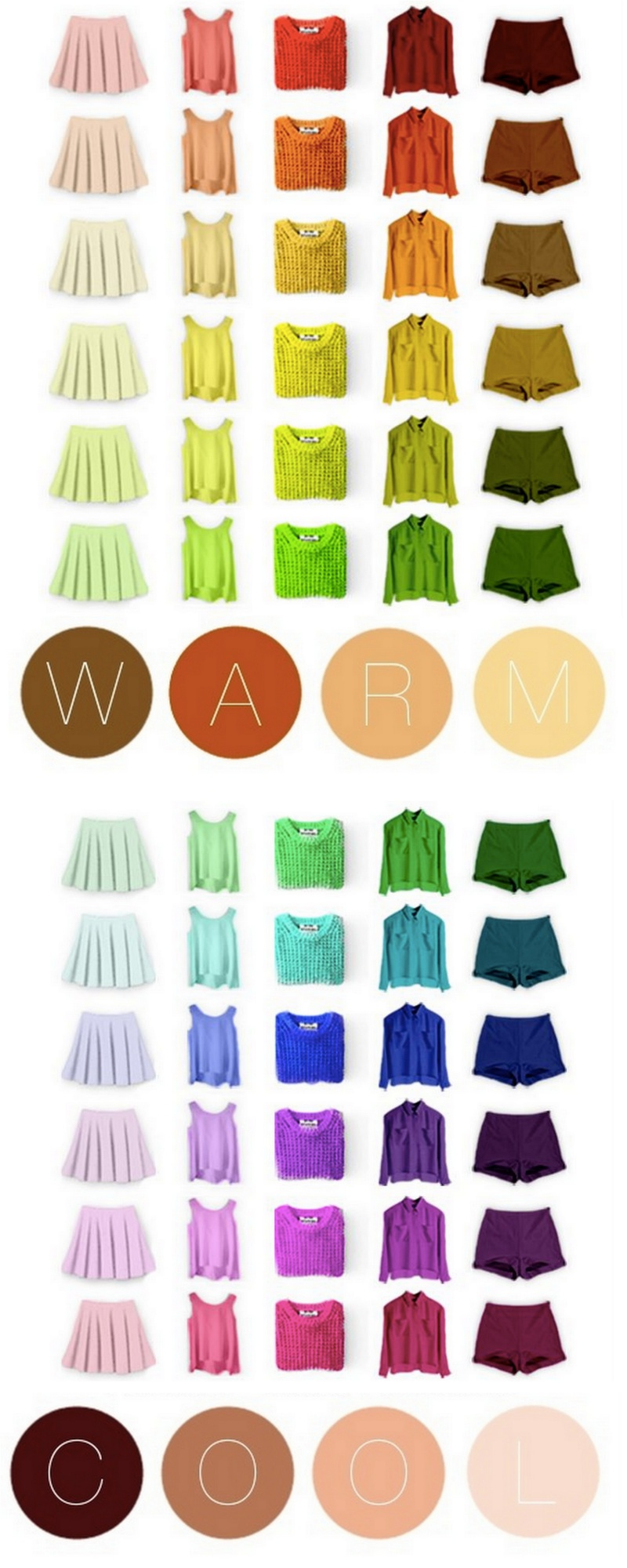 Hvilke farver passer sammen tøj